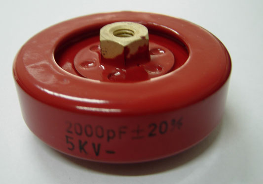 Plate High Voltage Capacitors With Contoured Rim (PS55)